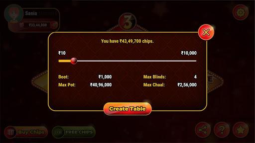 3 Patti Online Game 2021 :New 3 Patti Indian Poker 2.1 3