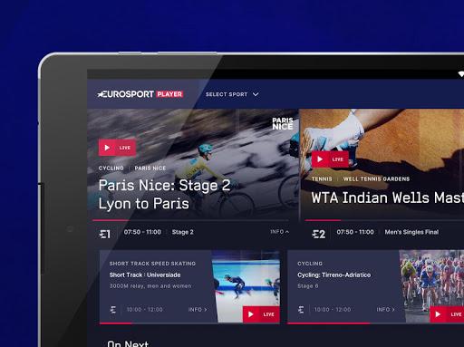 Eurosport Player - Live Sport Streaming App modavailable screenshots 6