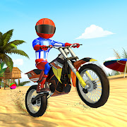 Beach Bike Stunts: Crazy Stunts and Racing Game