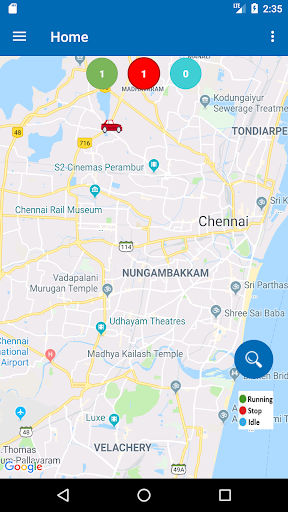 vehicle monitoring system screenshot 2