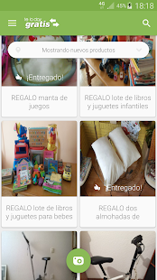 Telodoygratis - app to recycle and to give things Screenshot