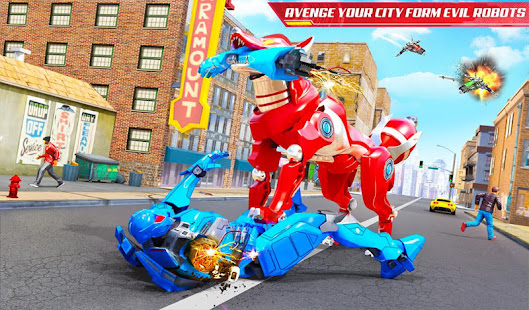 Wild Fox Transform Bike Robot Shooting: Robot Game 24 screenshots 10