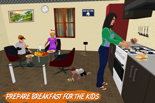 Virtual Single Mom Simulator: Family Mother Life screenshots 2