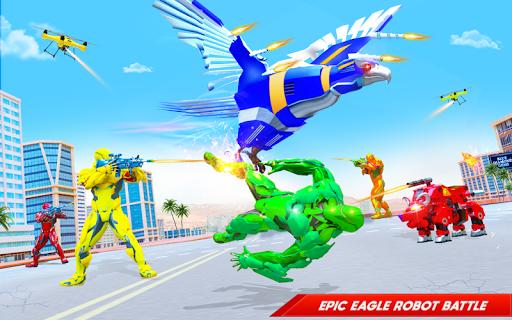 Flying Police Eagle Bike Robot Hero: Robot Games 30 Screenshots 6