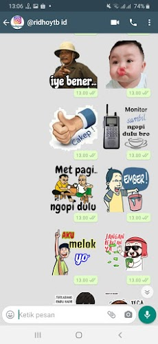 Kumpulan Stiker WA Kocak WAStickerAppsのおすすめ画像3