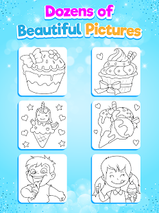 Glitter Ice Cream Coloring 5.4 Screenshots 16