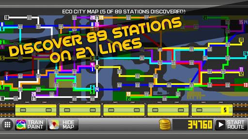 Subway Simulator 2D - city metro train driving sim apkpoly screenshots 2