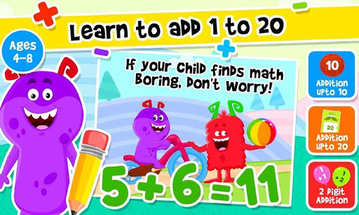 Addition and Subtraction for Kids - Math Games 2.2 screenshots 2
