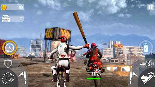 Highway Death Moto- New Bike Attack Race Game 3D  screenshots 11