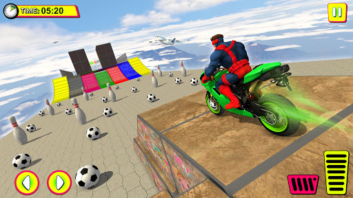 Superhero Tricky bike race (kids games)  Screenshots 3