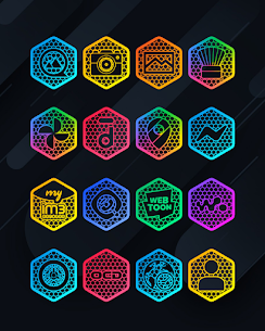 Hexanet APK- Neon Icon Pack [PAID] Download Latest Version 4