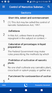 Control of Narcotic Substances Act 1997 (CNSA)