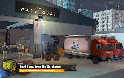 Supermarket Cargo Transport Truck Driving Sim 2019  screenshots 15