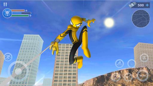 Spider Stickman Rope: Vegas Crime City Hero apklade screenshots 1