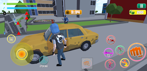 Grand City Theft War: Polygon Open World Crime apkpoly screenshots 3