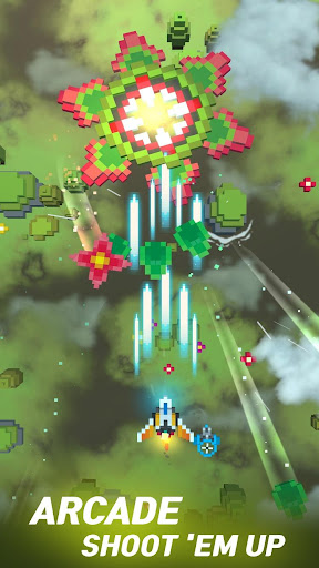 Sky Wings: Pixel Fighter 3D apktram screenshots 1