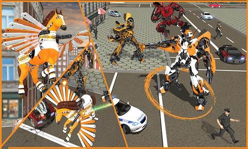 real robot horse battle:wild horse us police robot screenshot 3