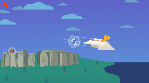 Dinosaur Plane - Plane piloting game for kids  screenshots 1
