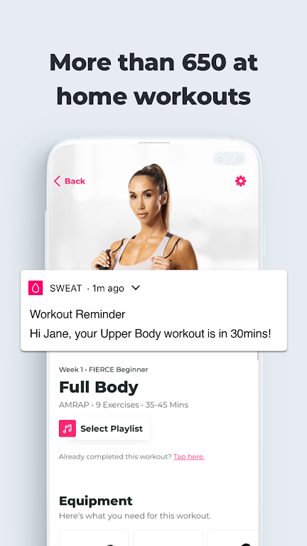 SWEAT: Fitness App For Women  poster 5