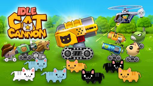 Idle Cat Cannon apklade screenshots 1