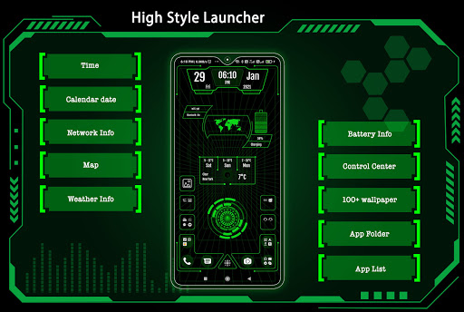 High Style Launcher 2021 - App Lock, Hide App 37.0 Screenshots 1