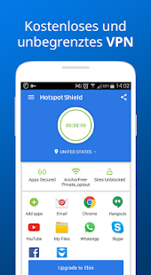 Hotspot Shield Kostenlos VPN Proxy WiFi Sicherheit Screenshot