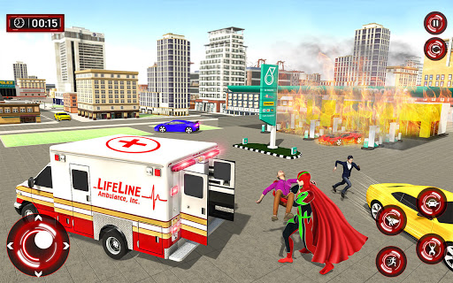 Superhero Light Robot Rescue: Speed Hero Games  Screenshots 2