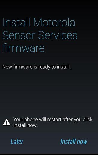 Motorola Sensor Services  screenshots 1