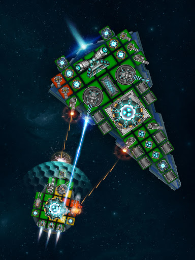 Space Arena: Spaceship game - Build & Fight android2mod screenshots 3