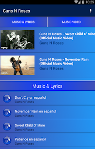 Guns N' Roses Popular Songs | Video Collection 1.0 Mod APK (Unlimited) 1