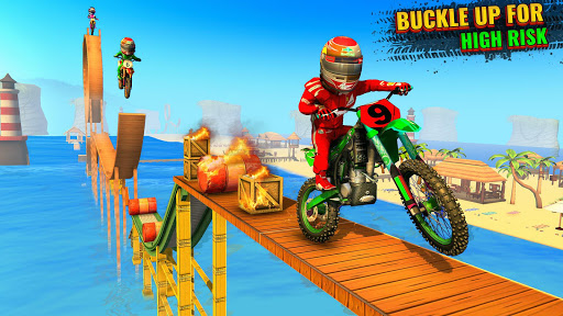 Beach Bike Stunts Game: Crazy Bike Stunts on Ramps apkmr screenshots 1