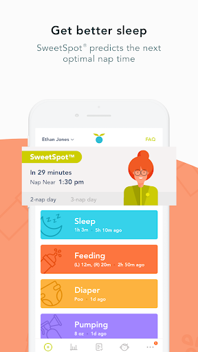 huckleberry: baby & child tracker, sleep experts screenshot 2