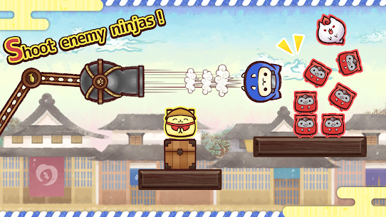 Ninja Cats Strike – slingshot action puzzle Online Hack Android & iOS 2