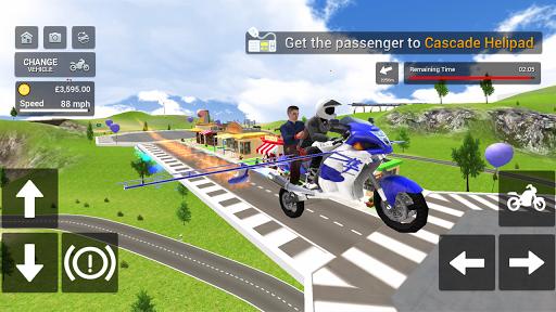 Flying Motorbike Simulator android2mod screenshots 4