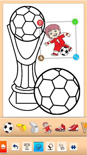 Football coloring book game screenshots 3