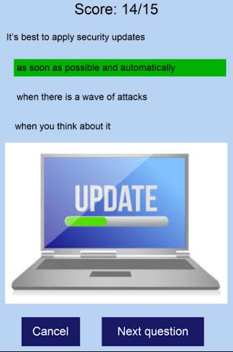cybersecurity quizz screenshot 2