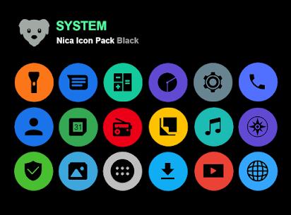 Nica Icon Pack Black MOD APK 1.0.8 7