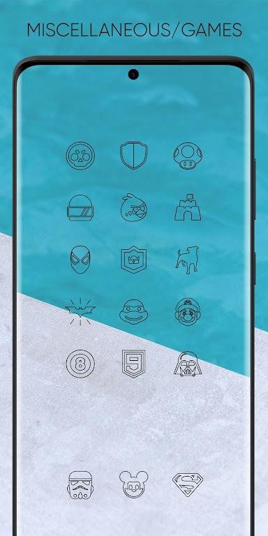 Vera Outline Black - Black linear icons  poster 3