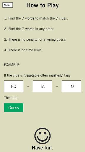7 Little Words: A fun twist on crossword puzzles screenshots 3