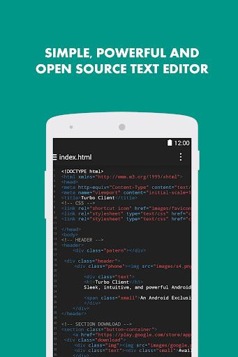 Turbo Editor // Text Editor  Screenshots 1