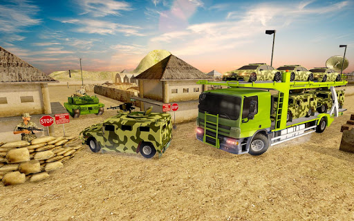 Off-Road Army Vehicle Transporter Truck  screenshots 4