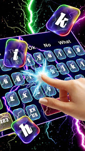 Colorful Lightning Screen Keyboard