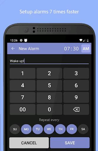 Simple Alarm Clock Free screenshots 1