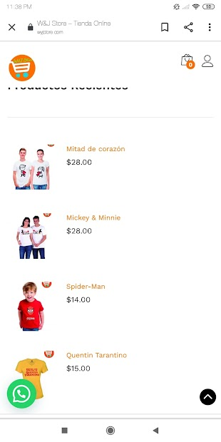 W&J Store Tienda Online screenshot 1