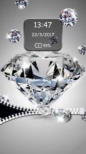 Diamond Zipper Lock Screen 6.1 Mod APK (Unlock All) 3