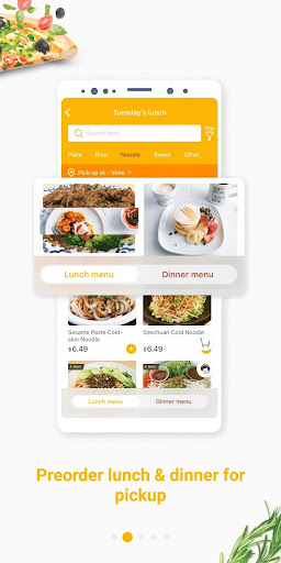 hungryus - free lunch&dinner food delivery screenshot 2