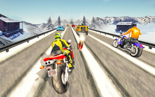 Bike Attack Race : Highway Tricky Stunt Rider android2mod screenshots 12