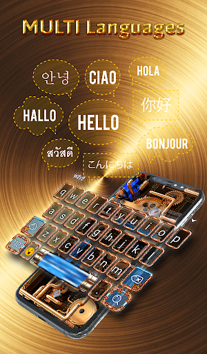 Cool Wallpapers and Keyboard - Steampunk Pipes android2mod screenshots 4