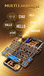 Cool Wallpapers and Keyboard - Steampunk Pipes Screenshot