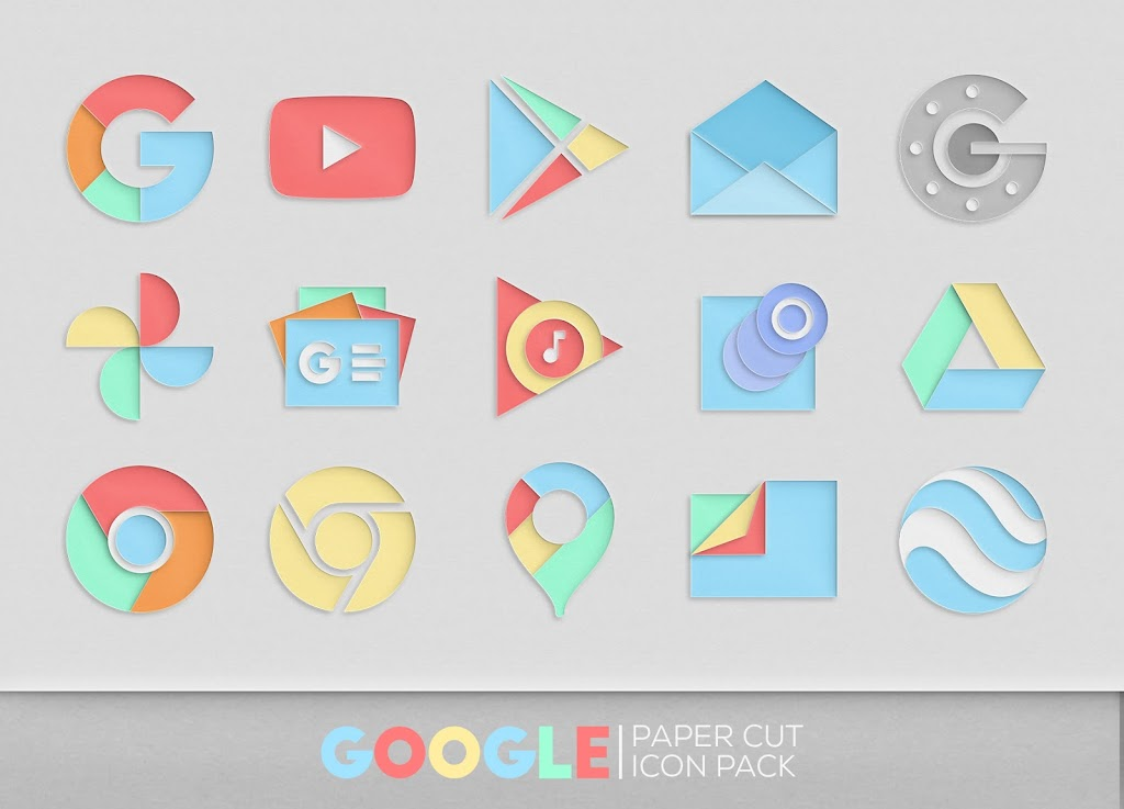 Paper Cut Icon pack New  poster 6